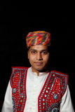 Andhra Pradesh male traditional dress. Image of an Andhra Pradesh male traditional dress - turban and jeweled vest, Hyderabad, Andhra Pradesh, India Royalty Free Stock Image