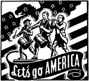Andiamo l'America illustrazione vettoriale