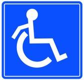 Andicappi il simbolo Fotografia Stock Libera da Diritti