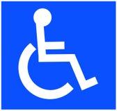 Andicappi il simbolo Fotografia Stock