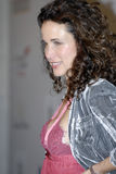 Andie MacDowell on the red carpet Royalty Free Stock Image