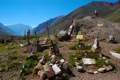 Andinistas kyrkogård, Aconcagua Arkivfoton