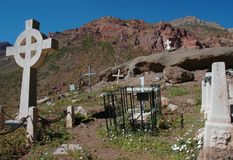 Andinistas kyrkogård, Aconcagua Arkivbild