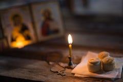 Andle contra la perspectiva de iconos ortodoxos Imagen de archivo libre de regalías