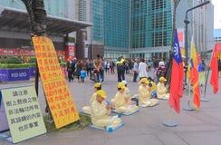 Andlig grupp Taipei Taiwan för Falun Gong Royaltyfri Bild