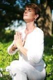 andlig kvinna Arkivfoto
