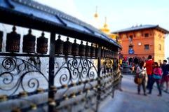 Andlig turism på Konungariket Nepal Arkivbild