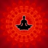 andlig yoga Arkivfoto