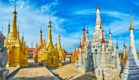 Andligt ställe på Inle sjön, Nyaung Ohak plats, Myanmar Royaltyfria Foton