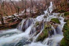 Andoin vattenfall i vinter Arkivfoto