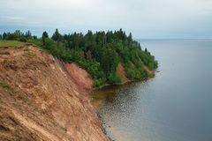 Andoma Cape at the Lake Onega, Russia Stock Photography