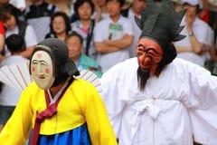 Andong mask dance, South Korea stock image