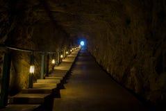 Andong Tunnel in Dongyin, Matsu, Taiwan Royalty Free Stock Photography