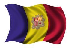 andora flagę Zdjęcia Royalty Free