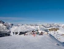 ANDORA - 06 JANUARI, 2015: Koffie in de skitoevlucht in Pyrenee Royalty-vrije Stock Foto