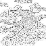 Andorinha feliz no céu Fotografia de Stock