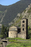 Andorra. An old chapel in the small autonomous principality of Andorra in the southern Pyrenees, between France and Spain. Andorra is a prosperous country mainly Stock Photography