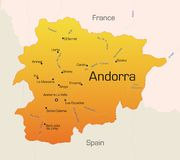 Andorra stock illustrationer