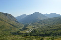 Andorra. Beautiful mountains and clear blue sky in Andorra Royalty Free Stock Photography
