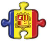 Andorra button flag puzzle shape Royalty Free Stock Photos