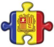 Andorra button flag puzzle shape Royalty Free Stock Photos