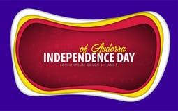 andorra De groetkaart van de onafhankelijkheidsdag het document sneed stijl royalty-vrije illustratie