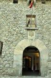 Andorra, de ingang aan het oude huis van parl Stock Foto