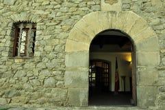 Andorra, de ingang aan het oude huis van parl Royalty-vrije Stock Fotografie