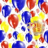 Andorra dnia niepodległości Bezszwowy wzór Zdjęcie Stock