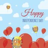 Andorra dnia niepodległości Płaski Patriotyczny projekt Fotografia Stock
