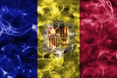 Andorra dymu flaga Obraz Stock