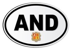 Andorra EN Plaat royalty-vrije illustratie