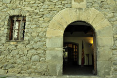 Andorra, a entrada à casa velha do parl Fotografia de Stock Royalty Free