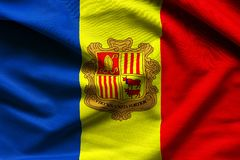 Andorra falowania flaga Zdjęcia Stock