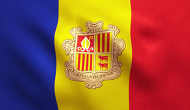 Andorra Flag Stock Photography