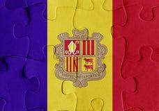 Andorra flag puzzle Stock Image