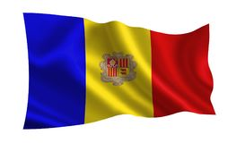 Andorra flag. A series of flags of the world vector illustration