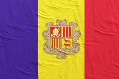 Andorra flag waving. 3d rendering of an andorra flag vector illustration