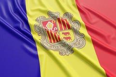 Andorra flaga Obrazy Royalty Free