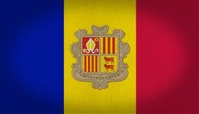 Andorra flaga Fotografia Royalty Free