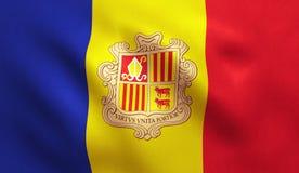 Andorra flaga Fotografia Stock