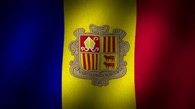 Andorra flaga royalty ilustracja