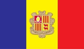 Andorra flaga wizerunek Zdjęcie Royalty Free