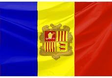 andorra flagga royaltyfri illustrationer