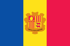 andorra flagga stock illustrationer