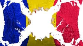 Andorra gescheurde vlag die in de wind fladderen stock illustratie