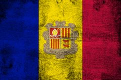 Andorra. Grunge and dirty flag illustration. Perfect for background or texture purposes royalty free illustration