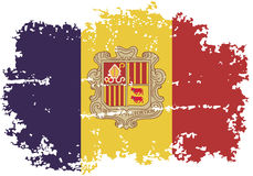 Andorra grunge flag. Vector illustration. Royalty Free Stock Photo