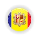 Andorra ikony okrąg Zdjęcie Royalty Free