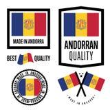 Andorra ilości etykietka ustawiająca dla towarów Obrazy Royalty Free